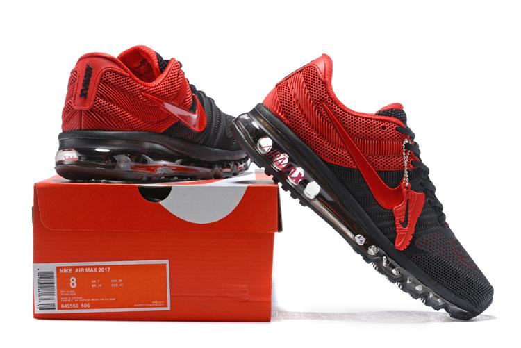 e3ece80eb6e Nike Air Max 2017 KPU Black Bright Red 849560 606 Men s Running ...