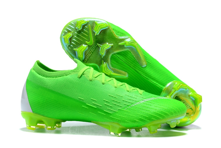 new styles 96aae 0b14d Nike Mercurial Superfly VI 360 Elite FG ACC Flyknit Low Green Silver Men's  Soccer Cleat Shoes NIKE-ST003413