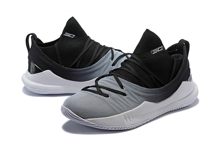 60aa3b57a7c9 Under Armour UA Curry 5 Black White Spectrum Men s Basketball Shoes ...