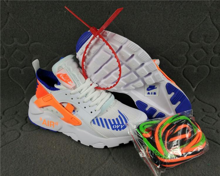 cde7c253870bf Nike Air Huarache Ultra Run Off White White Blue Orange Women s Men s ...