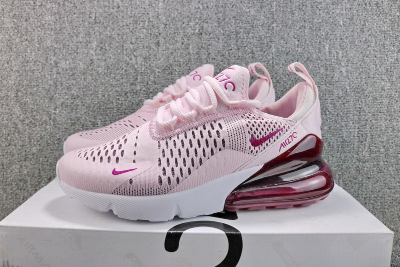 size 40 66965 74089 Nike Air Max 270 Flyknit Barely Rose Vintage Wine AH6789 601 Women's Casual  Shoes AH6789-601a