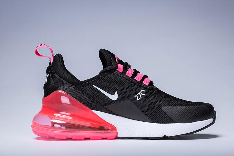 Nike Air Max 270 Black Pink Purple White Women's Casual Shoes NIKE ST002950