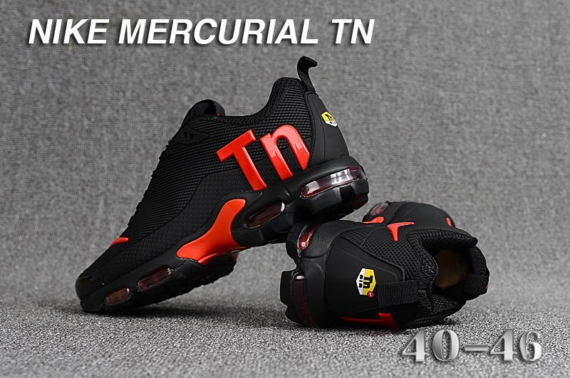 new style f2c41 9848b Mens Nike Mercurial TN KPU Black Red Running Shoes NIKE-ST003393