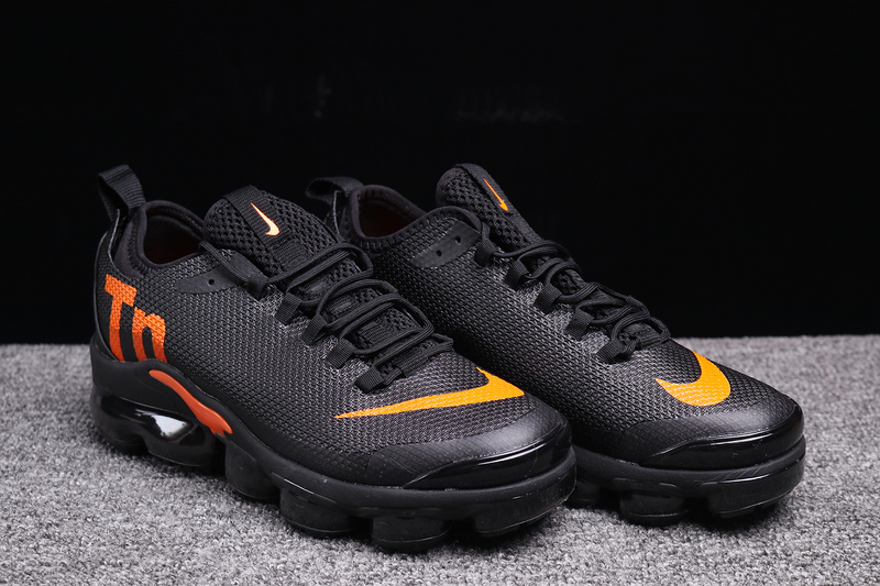 reputable site a69eb d4012 Nike VaporMax Air Max Plus Tn Black Orange Men's Running Shoes NIKE-ST003378
