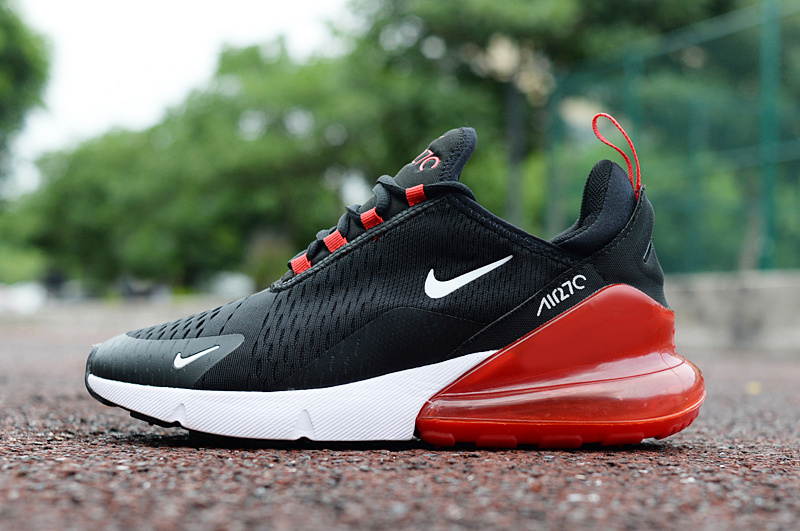 Nike Air Max 270 Black Red White Men's Casual Shoes NIKE ST002963