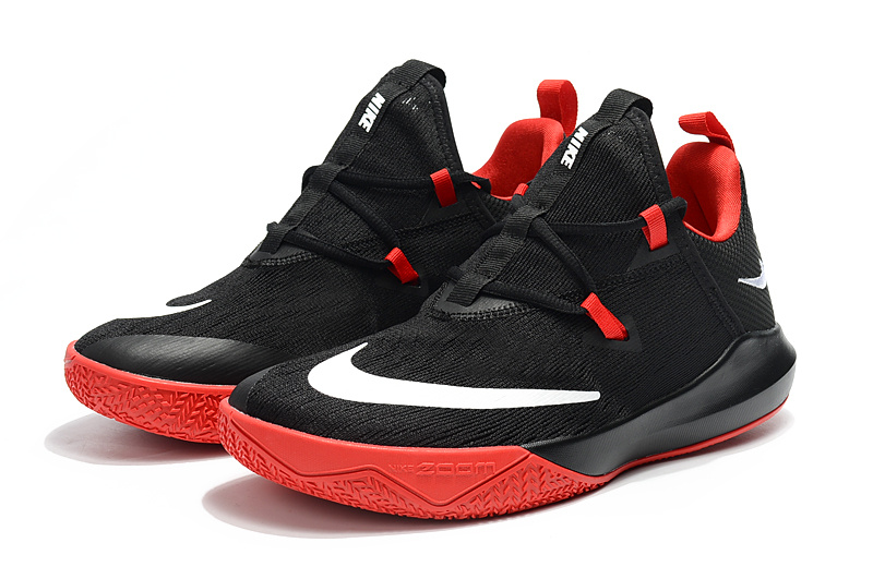 newest a8a61 bb7b0 Nike Zoom Shift EP 2 Black Red White Men s Basketball Shoes