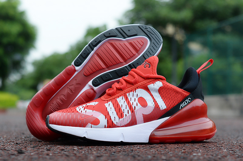separation shoes cf762 06941 Nike Air Max 270 University Red Black White Men's Casual Shoes NIKE-ST002965