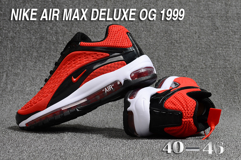 1307bdc6db57ed Nike Air Max Deluxe OG 1999 Kpu October Red Black White Men s Running Shoes