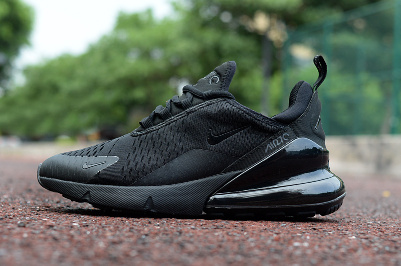 buy popular cd74a 18fde Nike Air Max 270 Triple Black Men's Casual Shoes NIKE-ST002972