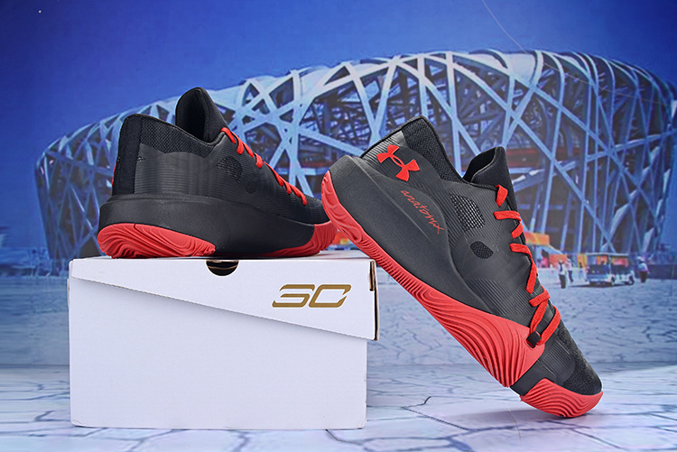 5d37b710d1c6 Under Armour Stephen Curry 5 Low Black Red Men s Basketball Shoes ...