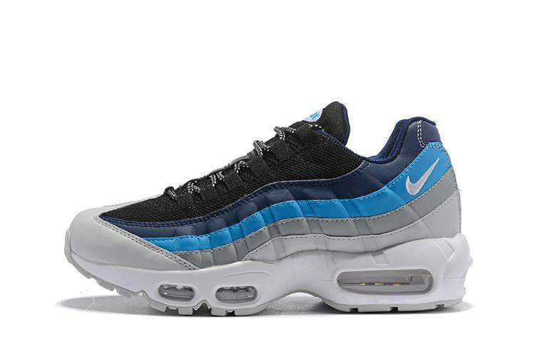online store f9257 e9f1e Nike Air Max 95 Essential Pure Platinum Black Navy Noise Aqua 749766 026 Men s  Casual Shoes