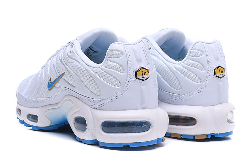 huge selection of 17dec bb9db Nike Air Max Plus TN White Blue Men's Running Shoes NIKE-ST003335