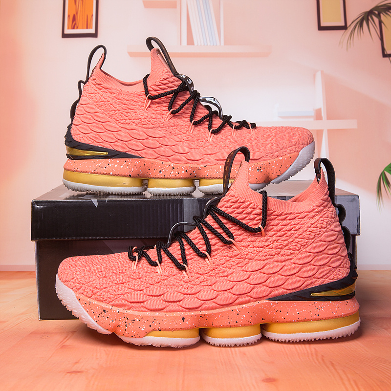 new style dfc65 c71aa ... Lebron James Basketball Shoes›. Nike Lebron 15 XV All Star Watermelon  ...