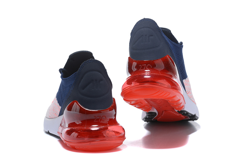 best sneakers b4329 dc3dd Nike Air Max 270 Flyknit White Red Navy Womens Mens Casual Shoes