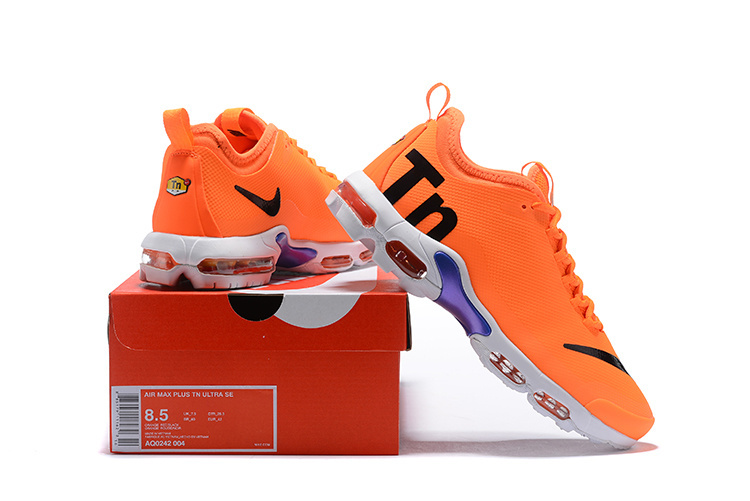 size 40 d6474 6cb25 Advanced Design Nike Air Max Plus TN Ultra SE Mercurial Orange White Black  AQ0242 004 Womens Mens Running Shoes AQ0242-004