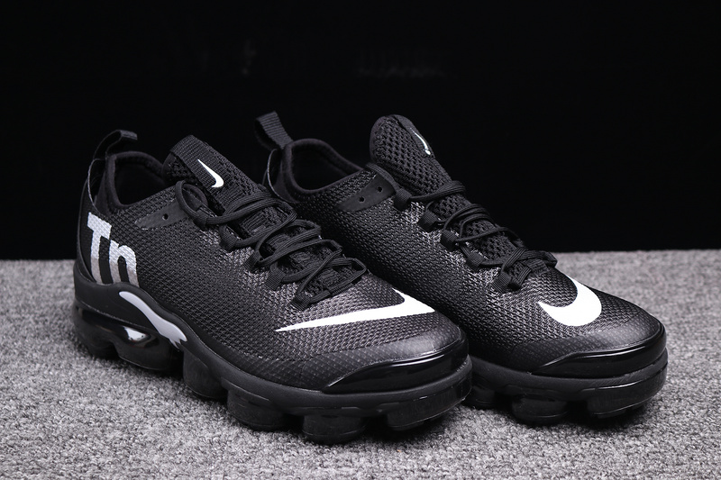 finest selection 92bb9 4a033 Nike VaporMax Air Max Plus Tn Black White Men's Running Shoes NIKE-ST003377