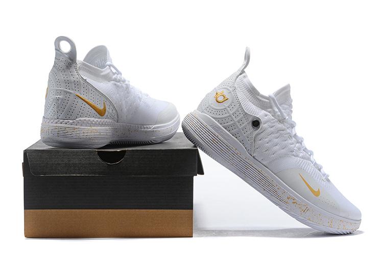 42764b522338 Nike Zoom KD 11 EP Triple White Gold Men s Basketball Shoes NIKE ...
