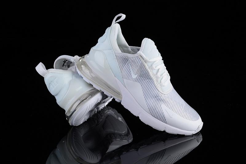 online retailer ff361 f9d8b Nike Air Max 270 Stripe Triple White Men's Casual Shoes NIKE-ST003075