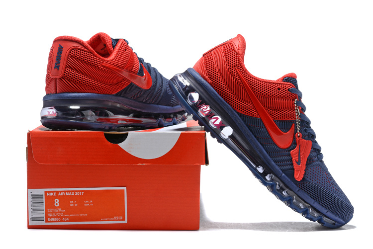 la meilleure attitude 1f7fd a0536 Nike Air Max 2017 KPU Navy Blue University Red 849560 464 Men's Running  Shoes 849560-464a