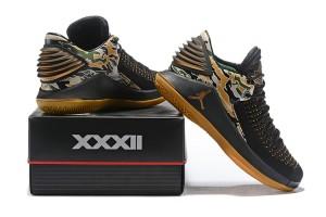 newest 0318b 0a0c4 Nike Air Jordan XXXII PF Tiger Camo AH3347 021 Men s Basketball Shoes