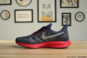 21ffd6cb087 Nike Air zoom Pegasus 35 Shield Navy Blue Silver Red Men s Casual Shoes