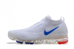 5440e88869e Nike Air VaporMax Flyknit Moc Whtie Blue Red Men s Running Shoes