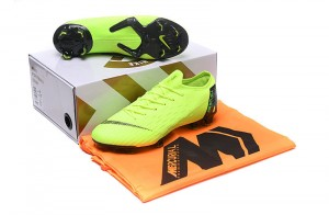 169faf1af5f2 Nike Mercurial Superfly VI Flyknit 360 Elite FG Green Black Men's Soccer  Cleat Shoes