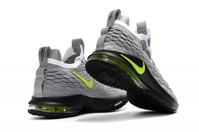438202f308a88 ... nike lebron 15 low ep cool grey volt wolf grey james mens basketball  shoes