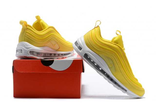 293c781e02b53 Nike Air Max 97 Mustard Yellow White 921733 701 Men s Women s Casual Shoes  921733 ...