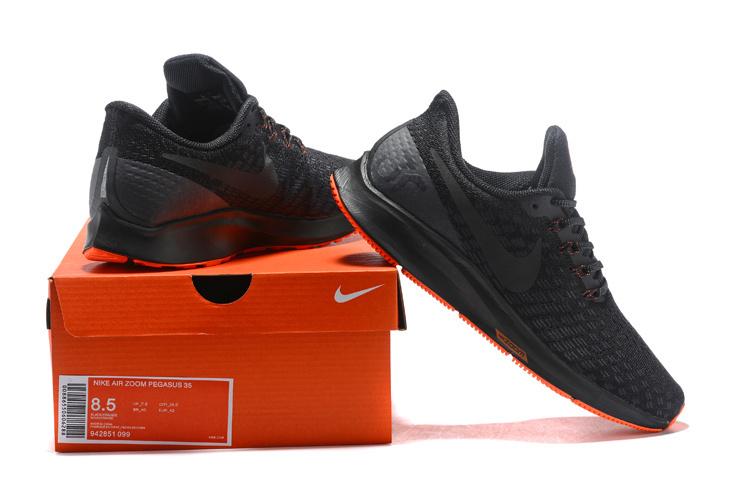 299bc04d387b5 Men's Casual Shoes Nike Air Zoom Pegasus 35 Black Orange 942851 099 ...