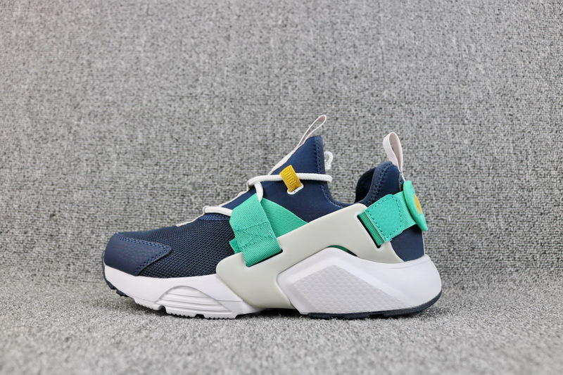 15681e758e50f Nike Air Huarache City Low Obsidian White Vast Grey Kinetic Green AH6804  401 Women s Casual Shoes