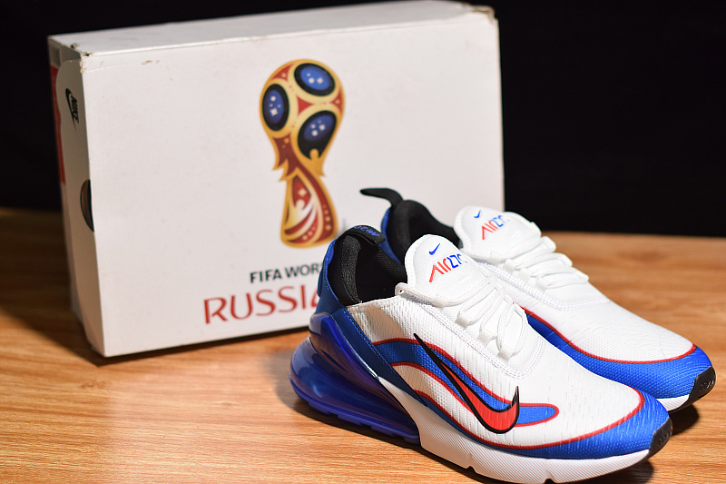 8ffc46bb754e Advanced Nike Air Max 270 Fifa World Cup Russia 2018 White Racer Blue ...