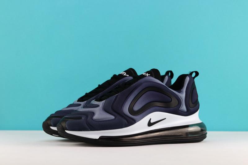 2e6ad5bdb608 Nike Air Max 720 Black White AR9293 001 Women s Men s Casual Shoes ...