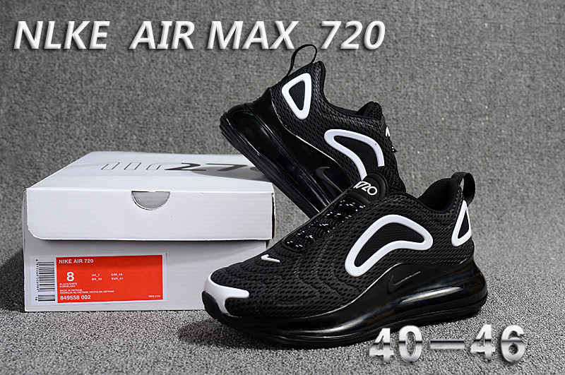 c671c1807d Nike Air Max 720 KPU Black White 849558 002 Men's Casual Shoes ...