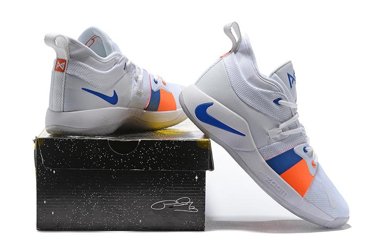 Nike PG 2 EP Paul George The Bait White Photo Blue Orange AJ2039 100 ... c746a92b4b52