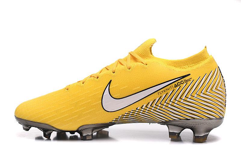 online retailer 94050 acbdb Nike Mercurial Superfly VI Flyknit 360 Elite FG Yellow White Black Men's  Soccer Cleat Shoes NIKE-ST003982
