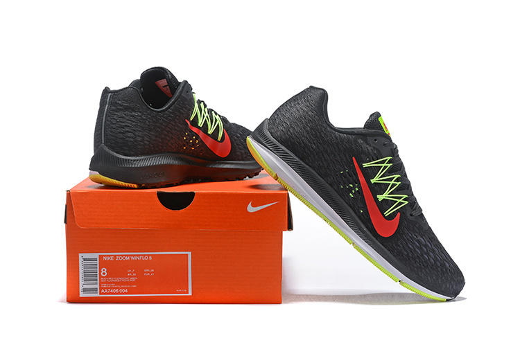 pretty nice 92c92 f78fe Nike Air Zoom Winflo 5 Black Bright Crimson Volt Anthracite AA7406 004  Men's Casual Shoes Sneakers AA7406-004
