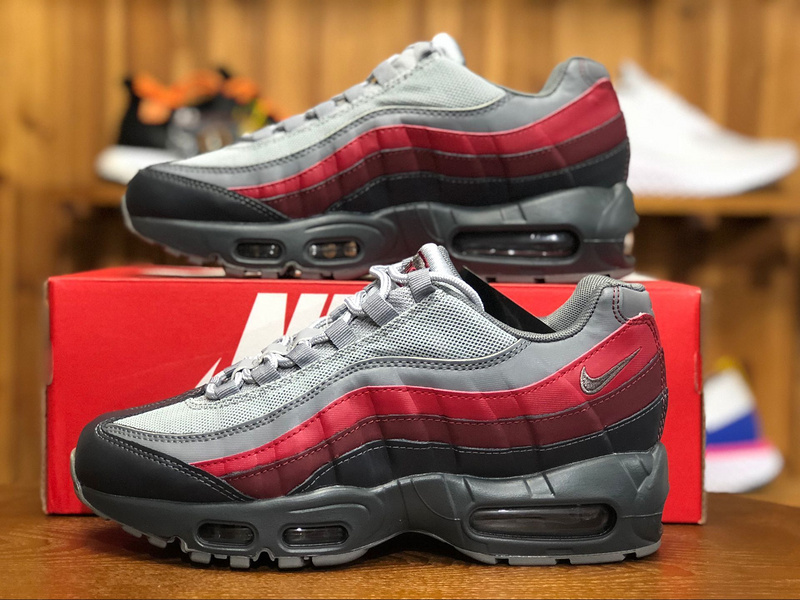 new products bb09f e0213 Nike Air Max 95 Essential Anthracite Wolf Grey Team Red 749766 025 Men's  Casual Shoes 749766-025A