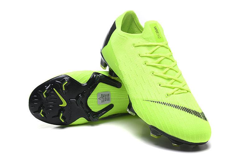 4881756020ba6 Nike Mercurial Superfly VI Flyknit 360 Elite FG Green Black Men s Soccer  Cleat Shoes