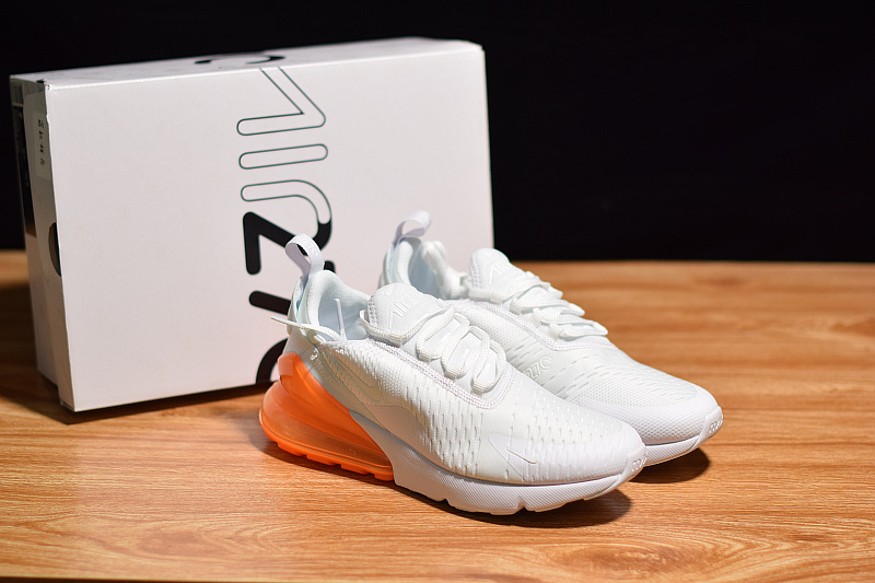 promo code 6cdf4 7896b Various Styles Nike Air Max 270 White Total Orange AH8050 102 Women s Men s  ...