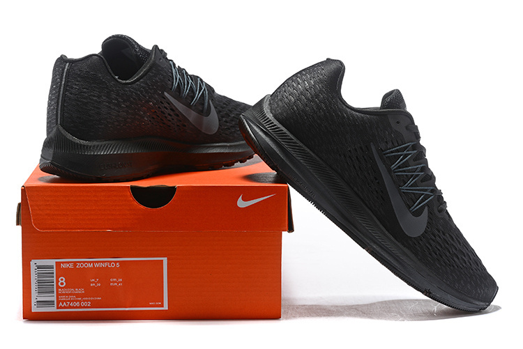 330ea03f461 Nike Air Zoom Winflo 5 Black Anthracite AA7406 002 Men s Casual ...
