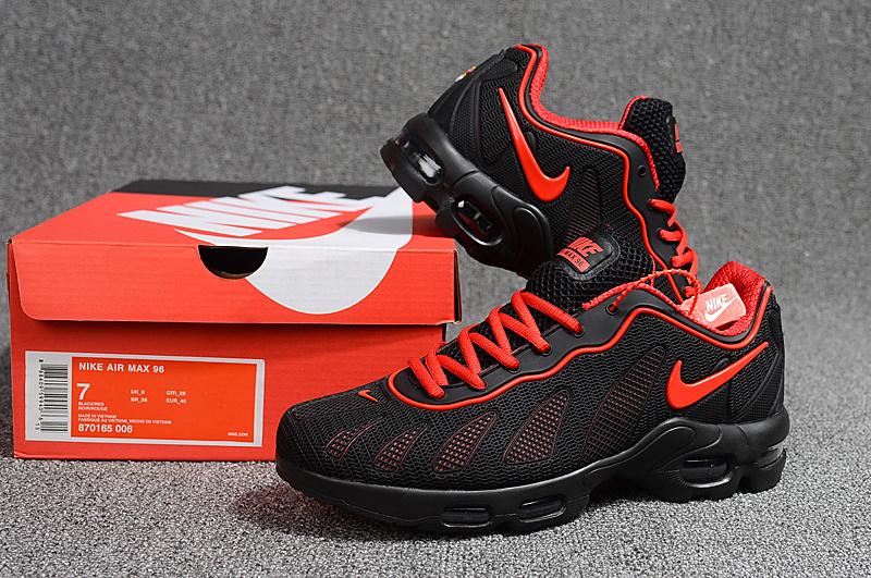 ee7ba8fe2b5ec Nike Air Max 96 KPU Black Red 870165 006 Men s Casual Shoes 870165 ...