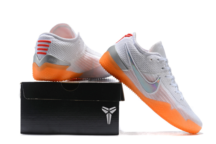 size 40 702bd 4df26 Nike Kobe AD NXT 360 Mamba Day White Multi Infrared 23 AQ1087 100 Men's  Basketball Shoes AQ1087-100