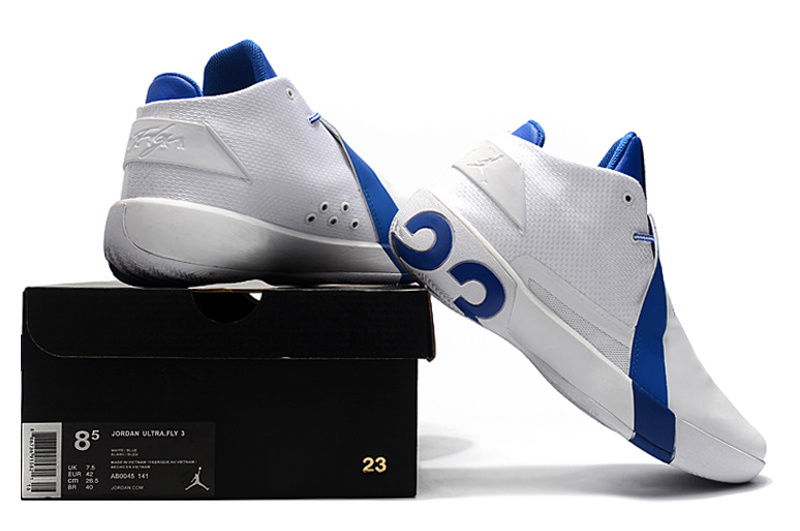 new arrivals b9cd9 d7c0a Air Jordan Ultra Fly 3 White Royal Blue Men s Basketball Shoes