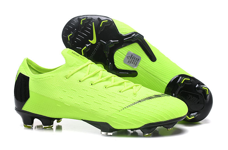 41bdfa2cabb Nike Mercurial Superfly VI Flyknit 360 Elite FG Green Black Men's Soccer  Cleat Shoes