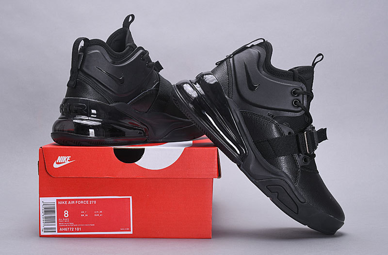 b7c59d4f0259 Nike Air Force 270 Triple Black AH6772 101 Men s Casual Shoes Sneakers  AH6772-101
