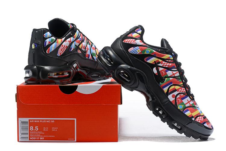 f794f0c3e2e58d Nike Air Max Plus Tn NIC QS International Flag Black Multi-color AO5117 001  Women s