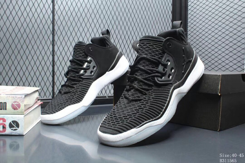 43157fe4f0bc Air Jordan DNA LX Flyknit Black White AO2649 001 Men s Basketball ...