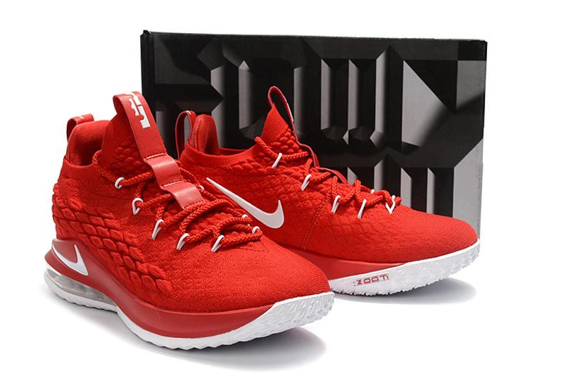a0b6efc87a3 Nike LeBron 15 Low EP University Red Black White AO1755 600 James Men s  Basketball Shoes