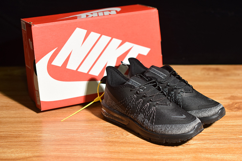 bf9ee1b0ed5 Nike Air Max Sequent 4 Utility Black Reflective Silver AV5356 004 ...